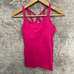 Lululemon Pink Fitted Racer Back Cut out Tank Top